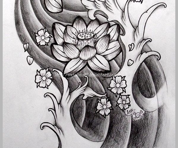 Japanese Lotus by Metalhead99.devia… on @deviantART