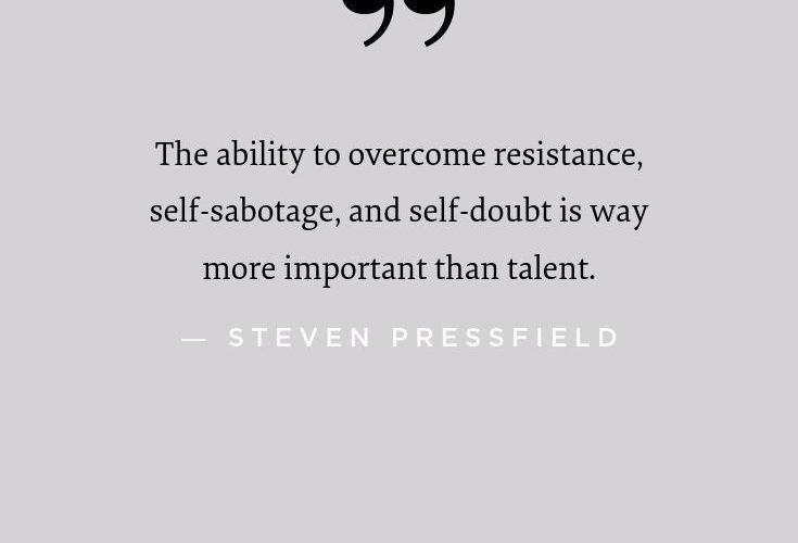 Learn how to handle self-doubt, procrastination, and self-sabotage in your creat…