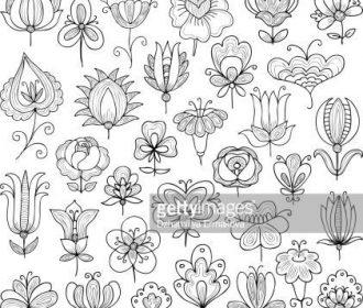 Vector Art : flowers doodle                                                     …