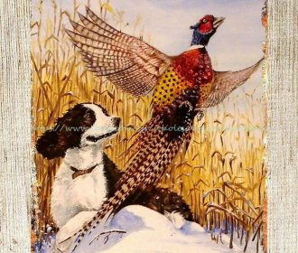 US Seller- artwork prints for sale hunting dog pheasant metal tin sign