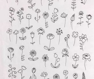 30 Simple Ways to Draw Flowers // #flowers #drawing // Flower drawing, floral dr…