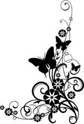 wildflower sketch black and white | black-and-white-flower-border-clipart-aTeK9B…