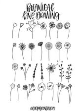 30 Simple Ways to Draw Flowers #art #drawings // Floral drawing, flower drawing …