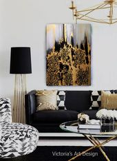 Abstract Original Oil Painting on canvas Modern Wall Art