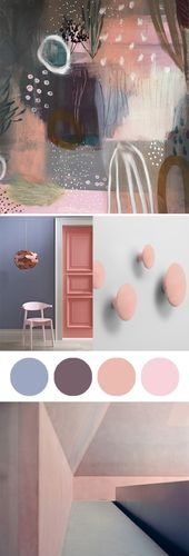 Artistic inspiration with Pantone's Colors of the Year, Rose Quartz and Sere…