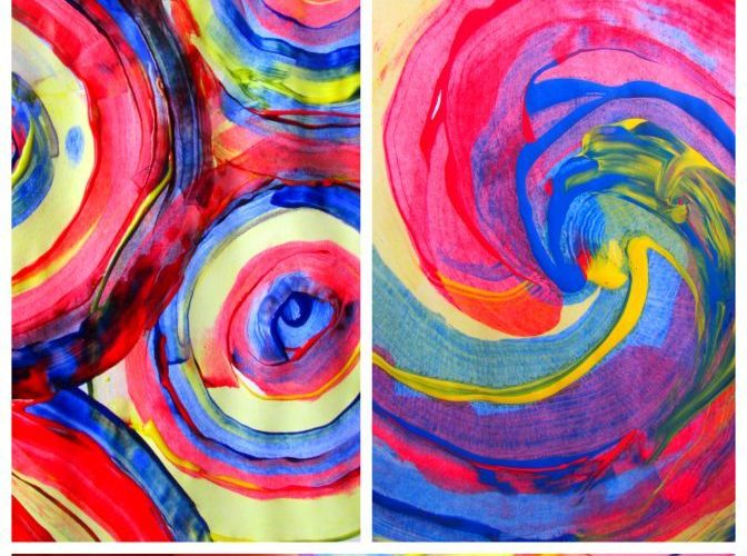 Arty Crafty Kids: Process art for kids! great for colour mixing and playing with…
