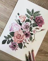 Beautiful, rose, pink