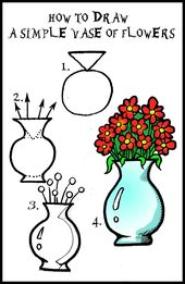 Daryl Hobson Artwork: How To Draw A Vase Of Flowers Step By Step