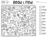Read & Find – Hidden Picture Puzzles CVC Words