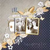scrapbook layout created by Suzanna Lee based on August 15th Stuck?! Sketch #fus…