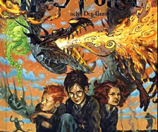 Swedish book covers for Harry Potter. They're incredibly artistic and insightful…