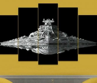 5 Piece USS Destroyer Canvas Artwork For Home & Office Wall Decor
