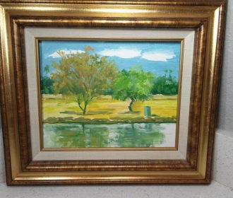 Stunning ORIGINAL 8 X 10 OIL PAINTING MYSTERY ARTIST,frame NOT included