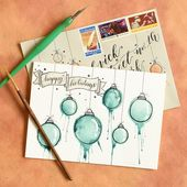Artistic Ornaments-Themed DIY Christmas Card Tutorial | The Postman's Knock …