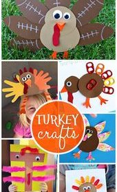 Artistic Turkey Crafts for Kids to Create #Thanksgiving crafts for kids!  | Craf…
