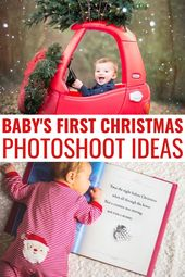 Baby's First Christmas Pictures that you can DIY! Baby's first Christmas for bot…