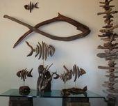 driftwood fish driftwood sculpture furniture and art in driftwood art 35 Ideas o…