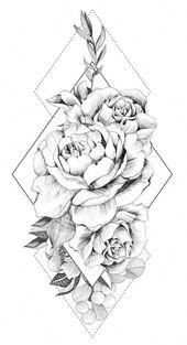 Floral Geometric Tattoos on Inspirationde