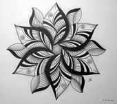 Lotus flower sketch. | sketches | Pinterest