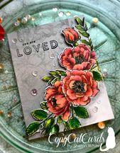 SSS:  Beautiful Flowers, colored pencils, top coat of light pink Zig marker, flo…
