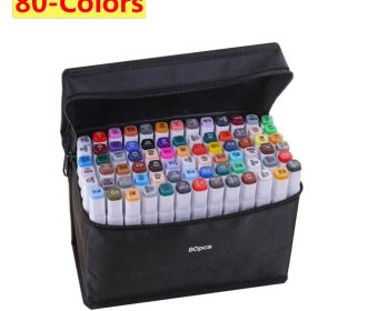 80-color Alcohol Marker set,alcohol markers Dual Tips art supplies copic markers