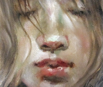 Original Oil Painting Mini 4×4 Face Figure Artist Moonglance