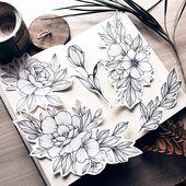 #flowers #flowertattoodesigns #flowerart #flowertattoos #art