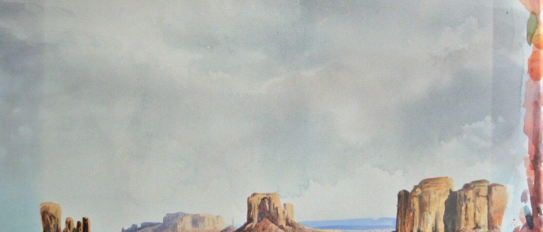 LARRY BRADLEY LANE AMERICAN 20TH CENTURY LISTED ARTIST – LANDSCAPE WATERCOLOR