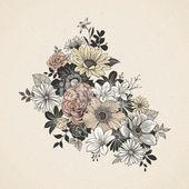 Vintage Flowers Royalty Free Stock Vector Art Illustration