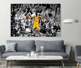 Kobe Bryant Legend Last Stage Basketball Painting Canvas Print Art Decor Wall