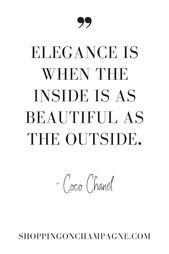 Coco Chanel Elegance Quote