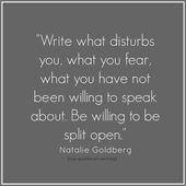 From Writing Down the Bones: Freeing the Writer Within – Natalie Goldberg / Via …