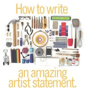 Pick up your pencil and get started on your Artist Statement! Find out how at ww…