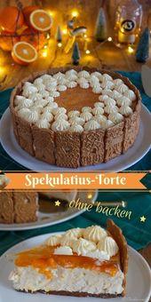 Spekulatius-Torte mit Mandarinen (no bake) #Spekulatius #Torte #nobake #Weihnach…