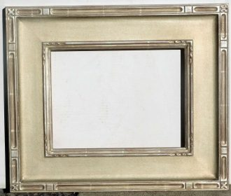 Carved silver leaf solid basswood frame fits 9 x 12 painting