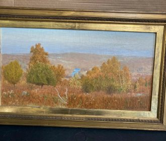 LISTED ARTIST CASIMIR CLAYTON GRISWOLD HUDSON RIVER VALLEY LANDSCAPE PAINTING