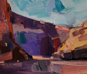 JOSE TRUJILLO Oil Painting IMPRESSIONISM DESERT CANYON MODERN ORIGINAL ARTIST