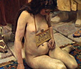 A Slave For Sale by Jose Aranda – Woman Girl Nude Selling Sell 8×10 Print 3069