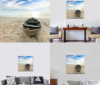 Boat Canvas Prints Giclee Artwork For Wall Decor Modern Art Home