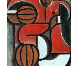 Art Deco Michael Jordan Art Work Gift Poster Modern Artwork Pop Art For Sale