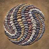 Artist Arranges Stones In Stunning Patterns On The Beach, Finds It Very Therapeu…