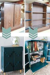 These before and after pictures of this thrift store upcycle project are awesome…
