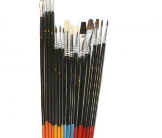 Artist Painting Brush Set 15 Natural Hair Brushes Hobby Craft Paint Kit Supplies