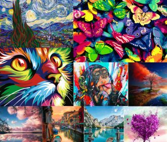Popular Painting DIY Paint By Number Kit Digital Oil Painting Artwork Home Decor
