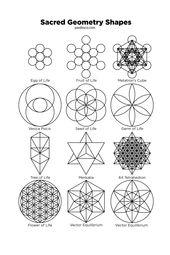 Sacred Geometry Symbols & Sacred Geometry Tattoo Ideas: The Basic Sacred Geometry Shapes