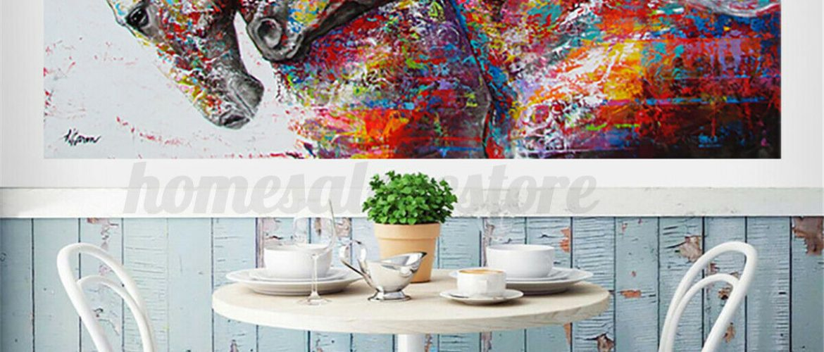 3 Size Running Horse Canvas Print Art Painting Wall Picture Home Decor Unframed