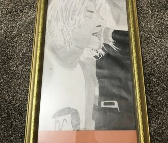 Kurt Cobain Picture for sale   Drawn By My Daughter Her Original Artwork