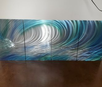 "Miles Shay ""Wave"" Metal Wall Art – Abstract Artwork Sculpture"