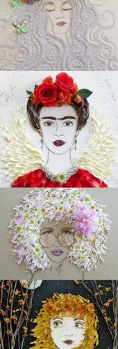 Chicago-based artist Vicki Rawlins constructs whimsical portraits of enigmatic w…
