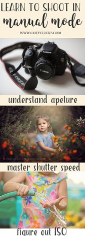 Learn how to shoot in manual mode.  Use your camera in manual mode easily.  The …